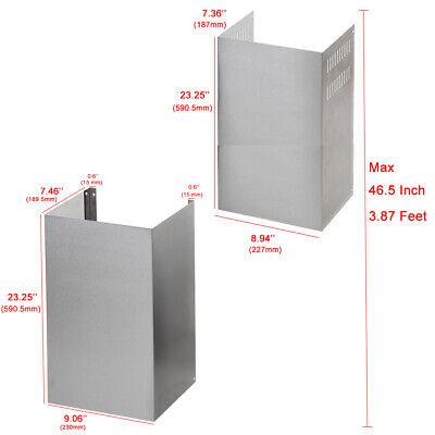 30 Inch Range Hood Exhaust Duct Vent Chimney Extension Kit Ebay