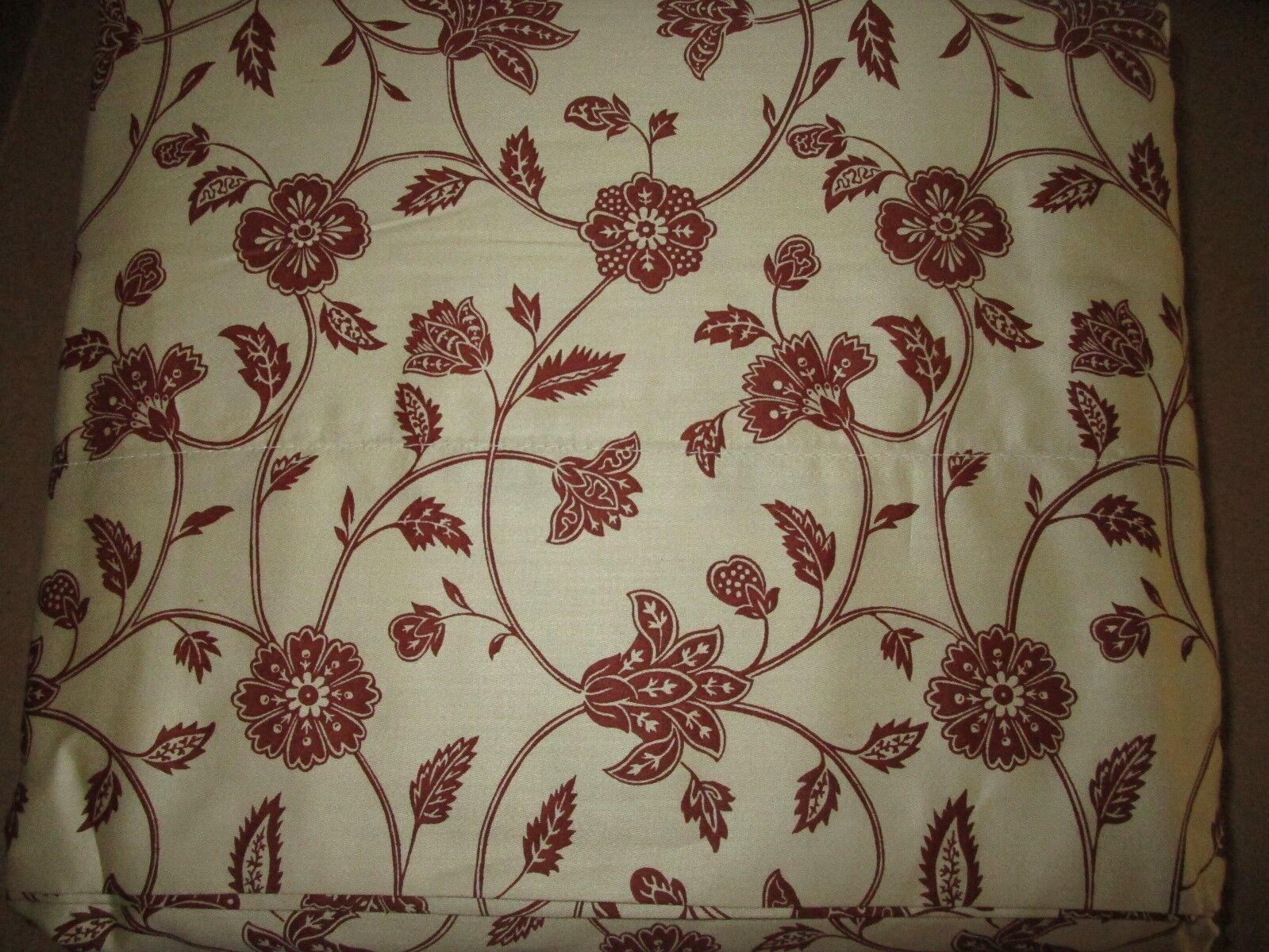 Chaps Ralph Lauren Chandler Cotton Sateen FULL Flat Sheet Jacobean Floral NWOP