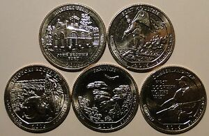 BU-UNC-United-States-US-2016-S-National-Parks-ATB-5x-quarters-25-cent-coins