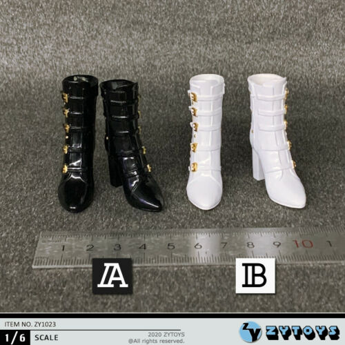 """ZYTOYS ZY1023 1//6 Female Hollow Boots Shoes Model For 12/"""" Figure Phicen Body Toy"""
