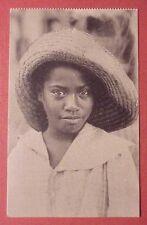 1920's Puerto Rican Girl w/ Lauhala Hat (Baker) TH Hawaii