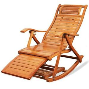 Tommy Bahama Outdoor Cushions, Rocking Chaise Lounge Chair Folding Bamboo For Indoor Outdoor Leisure Ebay