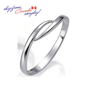 S925-Sterling-Silver-Streamline-Girl-039-s-Ring-Matching-Man-039-s-Ring-Available