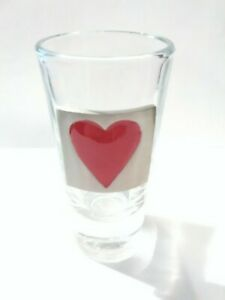 Red Heart Shot Glass