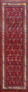 All-Over-Semi-Antique-Mahal-Runner-Rug-Wool-Hand-knotted-Oriental-Carpet-2x8-RED