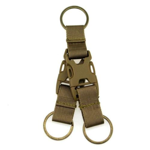 Tactical Key Chain Libération Rapide Boucle Sac À Dos Boucle de ceinture double porte-clés