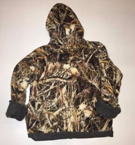 ZooFleece Shadow Grass Camouflage Kids Waterfowl Reversible Jacket Hoodie Coat