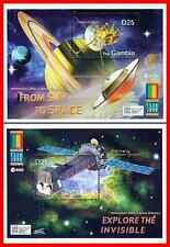 GAMBIA = EXPO 2000  SPACE & ASTRONOMY (SATURN), TELESCOPE x2 S/S (blocks)
