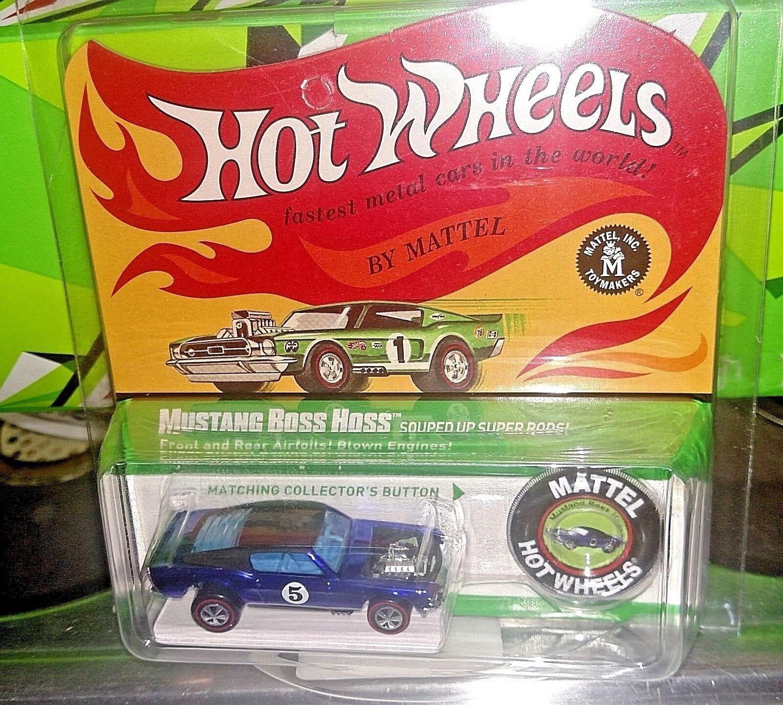 2017 Hot Wheels RLC HWC Spoilers Mustang Boss Hoss 6286 8000 NEO rewards