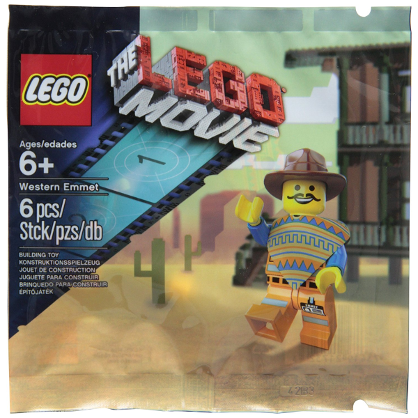 The LEGO Movie - Western Emmet [Minifigure Limited 5002204 Polybag 6 Pieces] NEW