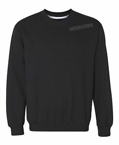Image is loading Unisex-Men-Women-Pullover-Crewneck-Sweatshirt-Basic-S- f42a8a755d