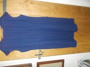 Alerte Vintage Années 1950 Robe Faite Par Helen Bond Modèle 41 Bleu (dentelle Design)