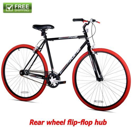 Kent Fixie Bike 700C Black Red Men/'s Single Speed Sport City Fitness Bicycle New