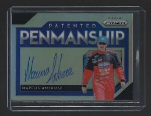 MARCOS-AMBROSE-2019-Panini-Prizm-Racing-PATENTED-PENMANSHIP-AUTOGRAPH