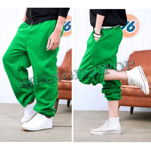 Unisex Harem Sweat Pants Track Sports Trousers Hiphop Jogging Casual Yoga Cotton