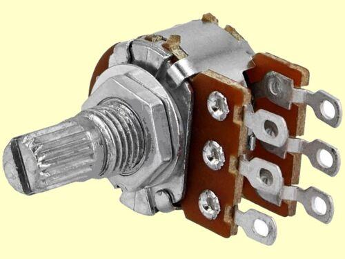 potenciómetro Potenciometros linear estéreo 50k 125mw achslänge 9mm lötpins #wp 10 PCs