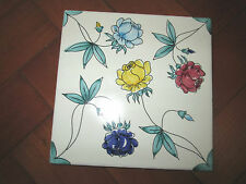 DECORATIVE ITALIAN HAND PAINTED RETRO TILE