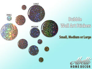 New glitter bubbles colour changing glitter wall stickers