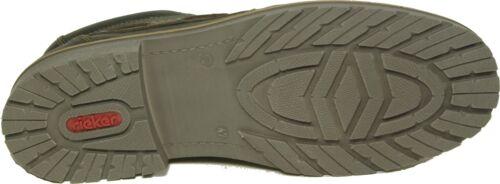 Leder Winter Warme Braun Neu Lammwolle Boots Schuhe Rieker avwX11