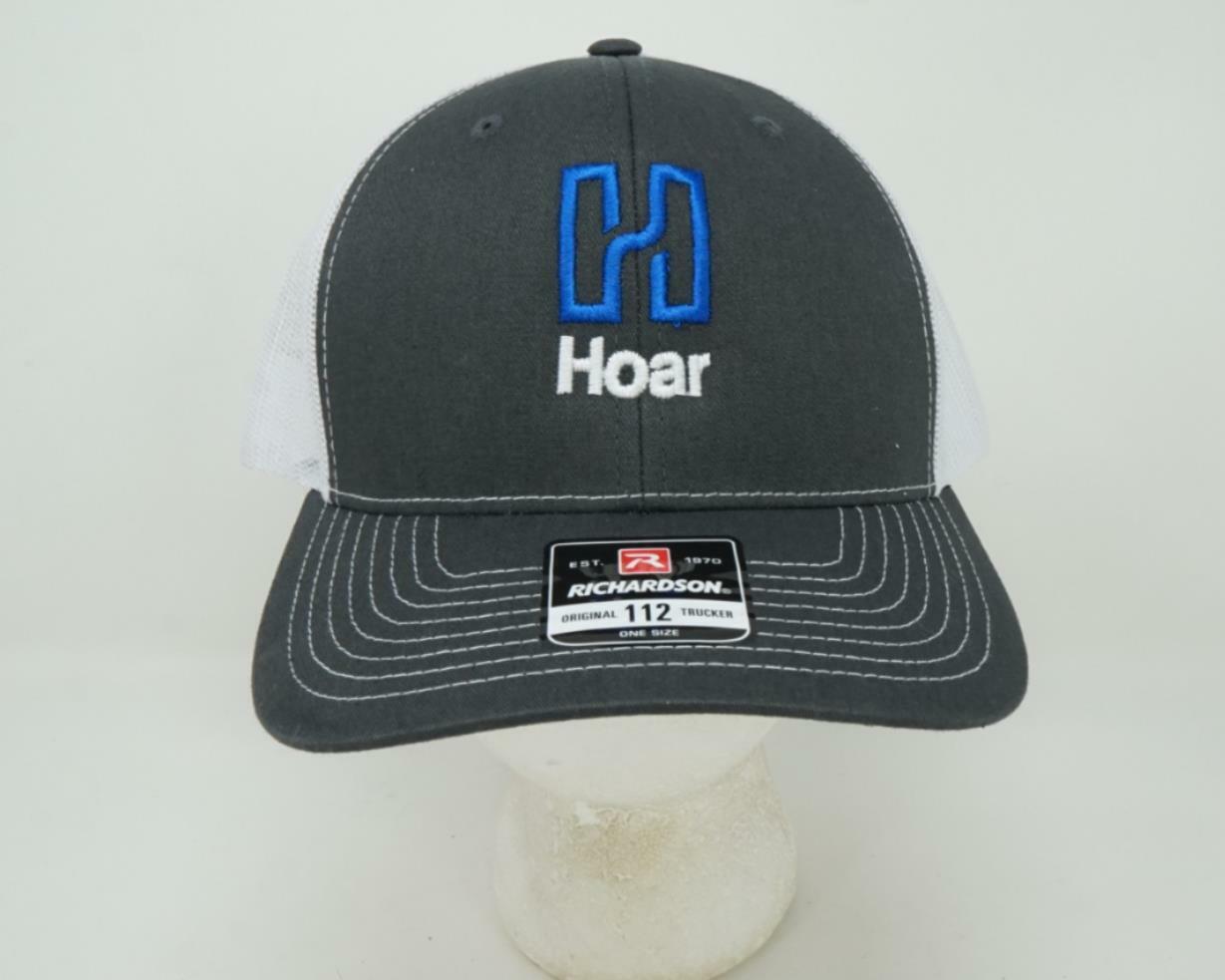 Richardson Stil 112 Hoar Logo Truckerhut Grau/Weiß - Einheitsgröße