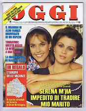OGGI N. 15, 1990 – Carol Alt,Serena Grandi,Ornella Muti,Giuseppe Tornatore,