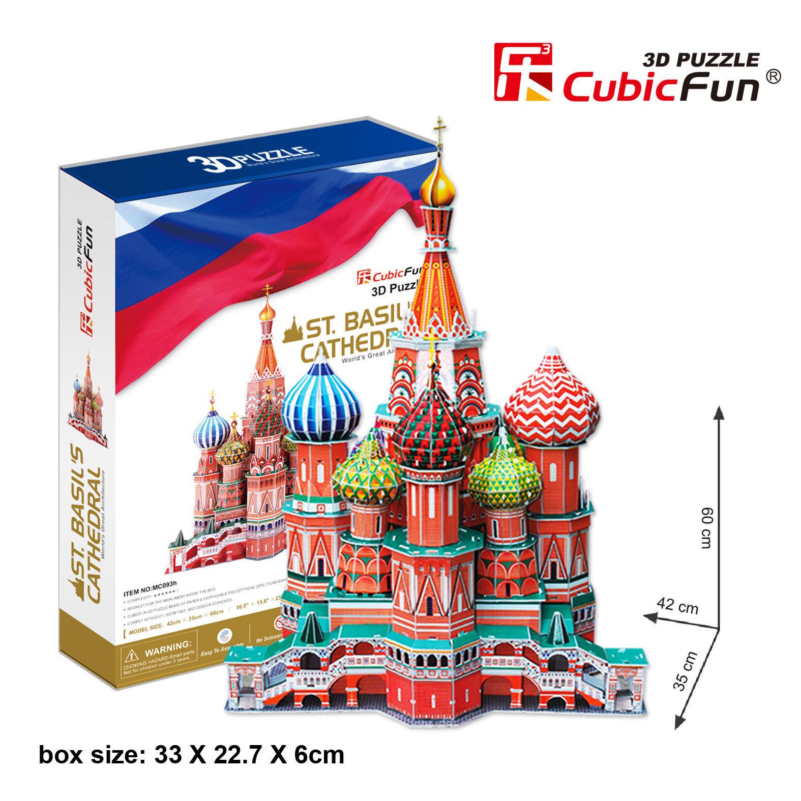 CubicFun 3D Puzzle ST. Basil's Cathedral Russia MC093h173 pcs Handy Jigsaw