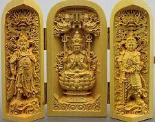 Wholesale wooden Buddha Avalokitesvara Bodhisattva Wei Tuo Temple ornaments
