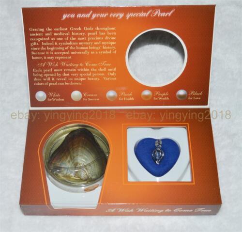 Nouveau 1 Set Love Wish Pearl Collier Set Oyster Drop Pendentif Box colliers