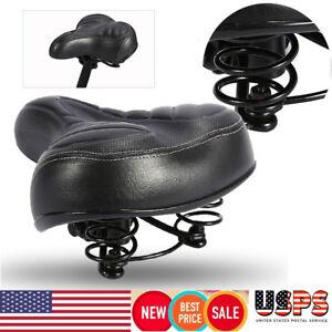 Comfort Wide Big Thicken Bike Bicycle Cruiser Sporty Soft Saddle Seat Black