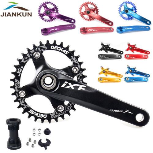 MTB Road Bike Crankset 104BCD Chainset 170mm Crank Arm Narrow Wide Chainring BB