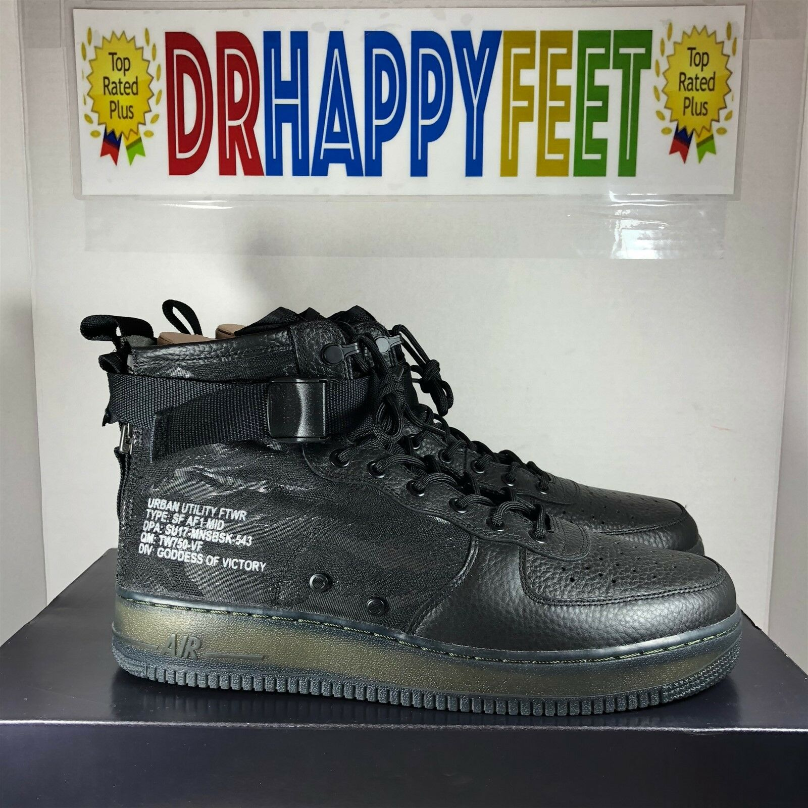 promo code baaa4 57a54 Nike SF AF1 QS MID New New New Mens Special Field Size 12 Black Tiger Camo