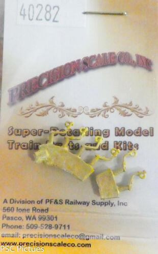 "Precision Scale HO #40282 Brackets 6 in pkg Pipe .020/"" Core Brass"