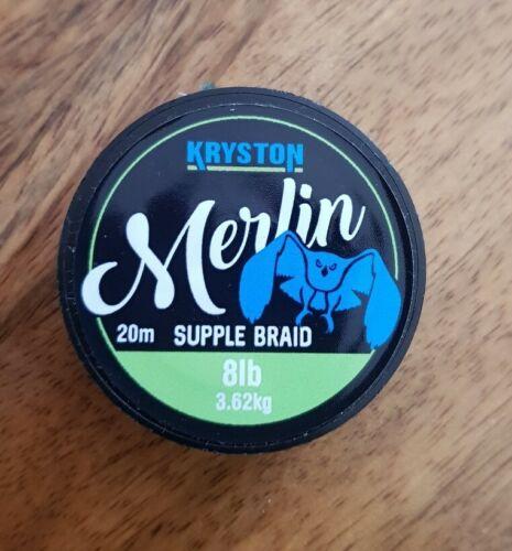 nash fox etc Kryston Merlin 8lb Braid line carp fishing PVA bag rig like Korda