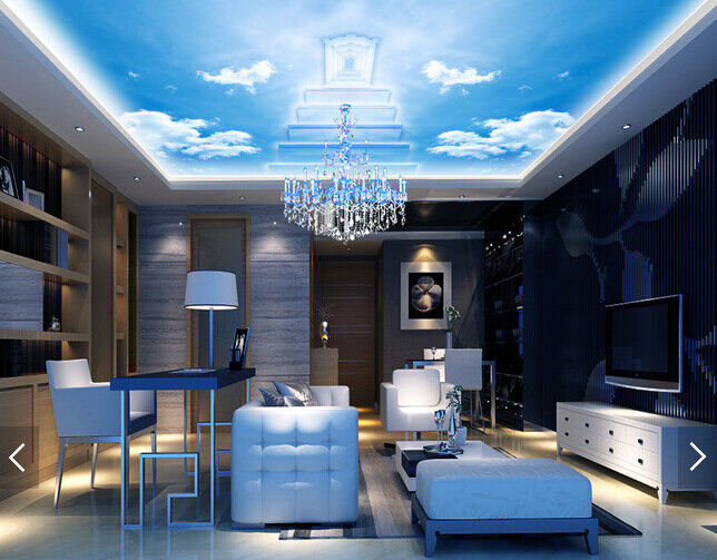 3D Sky Steps Ceiling WallPaper Murals Wall Print Decal Deco AJ WALLPAPER AU
