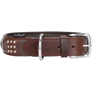 Knuffelwuff-Sheridan-Echtleder-Halsband-Hunde-Lederhalsband-Hund-Braun-Groesse-L