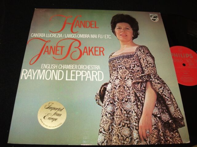 HANDEL° CANTATA<>JANET BAKER& LEPPARD<>Lp Vinyl<>Neth. Pressing<>PHILIPS 6500523