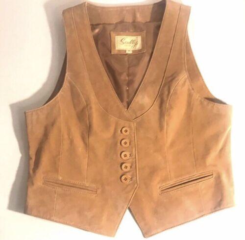 Scully 100% Genuine Leather Men's Tan Vest