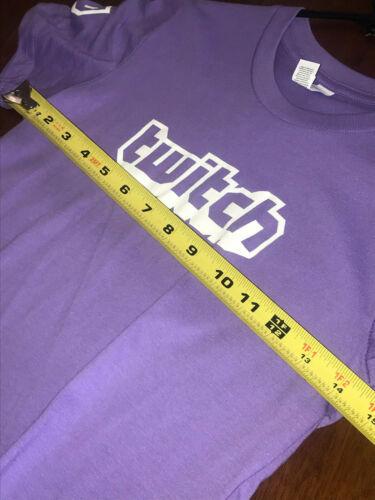 Twitch Logo TeeCrew Video Game Gamer Logo Cool Tee Shirt Youth Medium
