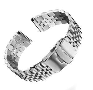 Uhrenarmband-Jubilee-Edelstahl-22mm-massive-silber-gerade-Anstoss