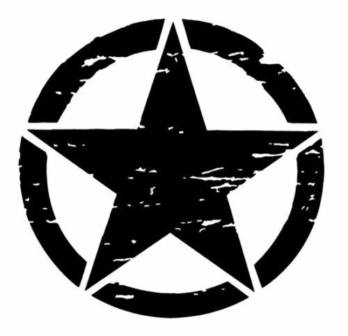 Set of 2 US U.S America Army Military Armed Forces Star Vinyl Decal Sticker V7
