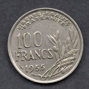 France 100 Francs 1955 coin BU - Glasgow, United Kingdom - France 100 Francs 1955 coin BU - Glasgow, United Kingdom