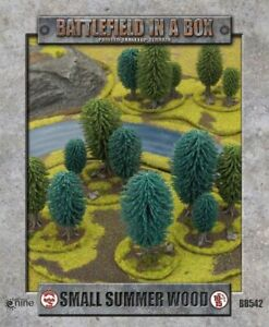 Battlefield-in-a-Box-Small-Summer-Wood-10mm-15mm-Terrain-Trees-Forest-Fow