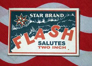 "STAR BRAND FLASH 2"" SALUTES HISTORICAL FIRECRACKER BOX REPLICA"