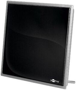 DVB - T piatto antenna con 30dB BOOSTER quadrato #P595