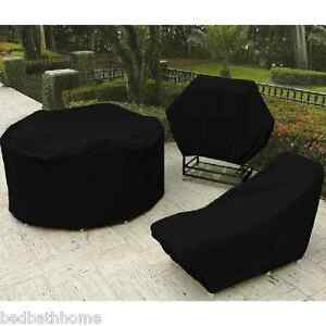 Image Is Loading New Deluxe Heavy Duty Vinyl Outdoor Furniture Cover