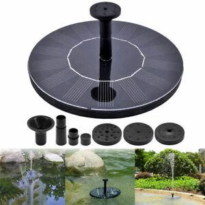 Solar-Powered-Floating-Bird-Bath-Water-Panel-Fountain-Pump-Garden-Pond-Pool-CHY