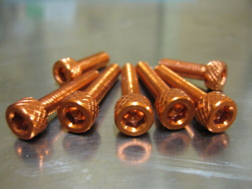 in orange anodised bolts Fuel Cap Bolt Kit for Kawasaki ZZR 1100 1990 onwards