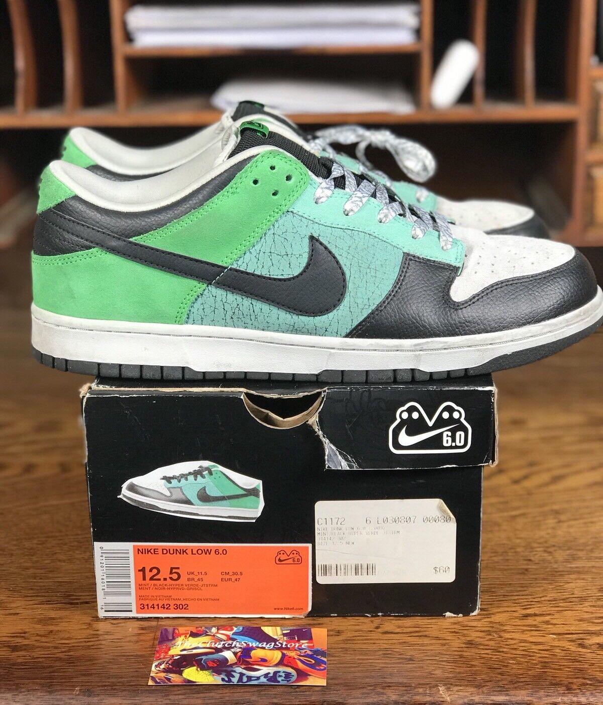 Nike e basso 6,0 mint jetstream / nero / verde jetstream mint (314142-302) Uomo sb misura 12,5 cd65d9