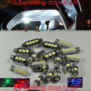 17-Bombillas-Xenon-Blanco-Lampara-LED-Luz-Interior-Kit-Paquete-Para-Volvo-V60-2011-2016