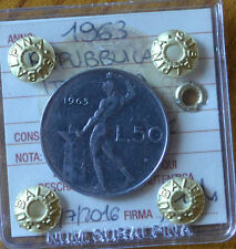 REPUBBLICA ITALIANA 50 LIRE 1963 SIGILLATA SPL/FDC numismatica SUBALPINA